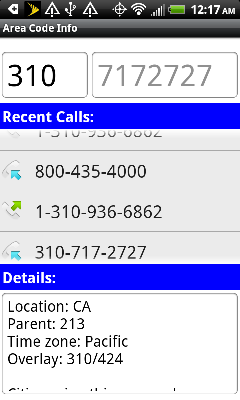 Area Code Info Apporilla - What area code is 424